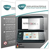 2 x Slabo Displayschutzfolie Nintendo 3DS XL Displayschutz Schutzfolie Folie 'No Reflexion|Keine Reflektion' MATT - Entspiegelnd MADE IN GERMANY