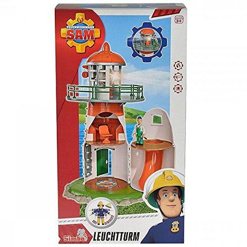 feuerwehrmann sam neue feuerwehrstation Simba 109252133 - Feuerwehrmann Sam Leuchtturm mit Figur 40 cm