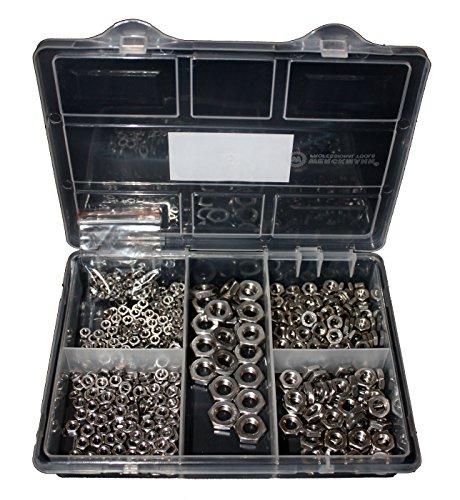 Sechskantmutter-Sortiment niedrige Form DIN 439 Edelstahl 460 Teile M3 M4 M5 M6 M8 M10