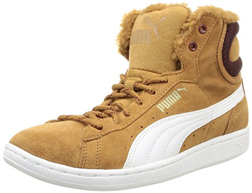 Puma  Puma Vikky Mid Marl, Baskets hautes femmes Marron (Chipmunk Brown/White)