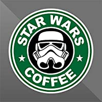 Sticker Star Wars Coffee Funny - Decal Cars Motorcycles Helmet Wall Camper Bike Adesivo Adhesive Autocollant Pegatina Aufkleber - cm 12 - Funny Car Decal Sticker