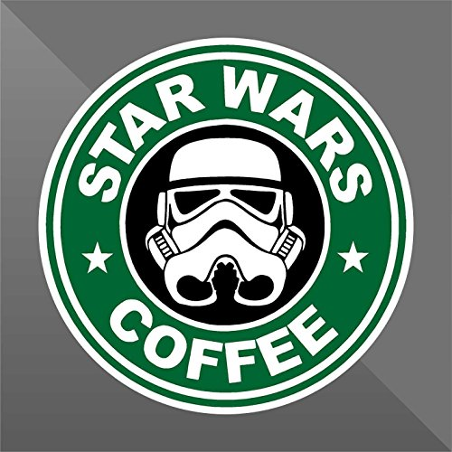 Sticker Star Wars Coffee Funny - Decal Cars Motorcycles Helmet Wall Camper Bike Adesivo Adhesive Autocollant Pegatina Aufkleber - cm 15