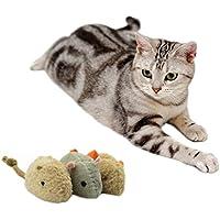 OCHO8 Katze Spielzeug, Cotton-Ramie Maus Fellmäuse Spielzeug für Katzen, Katzenspielzeug Fell-Mäuse (3 Stück Set)
