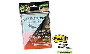 FlashSticks Post-Its imprimés pour apprendre l'allemand Niveau 1 débutant