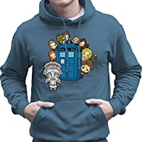 Doctor Who Weeping Angel Hide and Seek Matt Smith Tardis Men's Hooded Sweatshirt