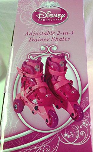 Disney Princess Adjustable 2-in-1 Trainer Skates, Sizes J6-J9 - 161151 by Bravo Sports