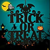 Halloween Hanging Ornaments, Handmade Non-Woven Fabric Trick OR Treat/The Witch is in Hanging Sign for Home Halloween Decoration(Trick Or Treat)
