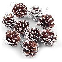 54 Stück aus Holz Weihnachten Weihnachten Baum Pine Cone Tannenzapfen Hängenden Ornament Party Ferienhaus Dekor Dekoration Zubehör