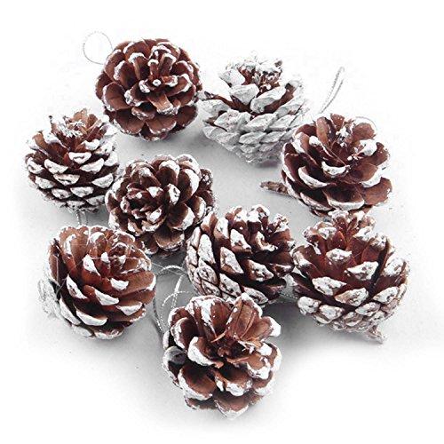 54 PCS di Legno di Natale Albero di Natale di Pino Cono Hanging Accessori per Ornamento partito di Festa Home Decor Decorazione