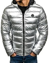 BOLF Herren Jacke Winterjacke NATURE 4790 Silber-Schwarz XL [4D4]