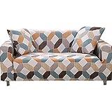 FORCHEER 2 Sitzer Sofabezug Sofaüberwurf Sesselhussen Elastisch Hautfreundlich 135-180cm