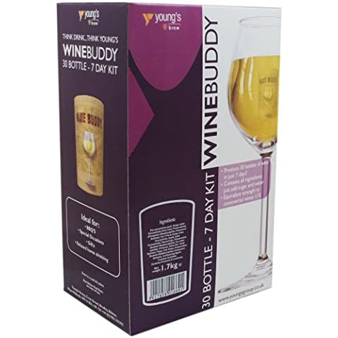 Balliihoo Homebrew-Winebuddy 6bottiglie vino bianco Sauvignon, ingredienti per fissaggio