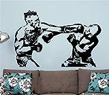 Adesivi Bianchi Murali Conor Mcgregor Mma Fight Boxing Decal Ufc Giant Graphic Decor per camera da letto ragazzi camera da boxe