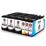 Uoopo 950 951 Compatibile per Cartucce HP 950XL 951XL (3 Nero 1 Ciano 1 Magenta 1 Giallo) per Stampante HP Officejet Pro 8600 Plus 8620 8610 8100 276dw 251dw 8615 8625 8630 8640 8660 271dw