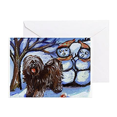 CafePress - TIBETAN TERRIER 4 Seasons Greeting Cards (Package - Greeting Card (10-pack), Note Card with Blank Inside, Birthday Card Glossy