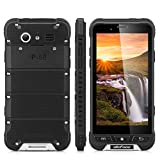 Ulefone Armor - 4G Smartphone Libre Android 6.0 con NFC (Waterproof, Batería 3500mAh, Amplia segura temperatura, SOS Key, HD Pantalla 4.7'' IPS, MT6753 Quad Core 1.3 GHz, 3G Ram, 32G Rom, Dual Sim, Bluetooth 4.0 GPS WIFI OTG Multi-Idioma) (Negro)