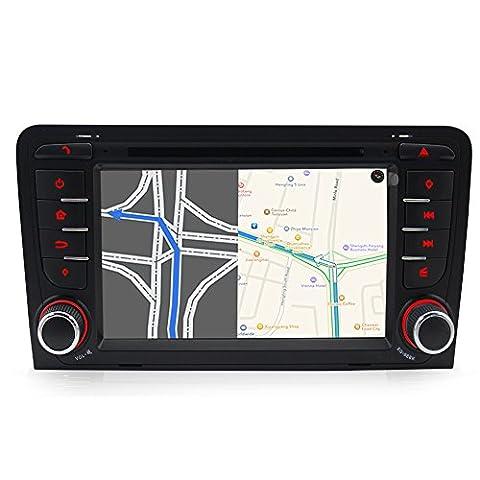 A-Sure 7 zoll Autoradio DVD GPS Kudos 3D Map VMCD iPod RDS Für AUDI A3(2003-2011) / AUDI S3 / AUDI RS3 / RNSE-PU(mit vorinstallierter originaler Kudos Karte)