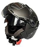 ANDREWSON Helm New Motorradhelm Elektroauto Helm Helm Doppelobjektiv Sommerhelm Halbhelm Männer Und Frauen Outdoor Allgemeine Persönlichkeit Motorradhelm Kollision Sicherheit,B-M