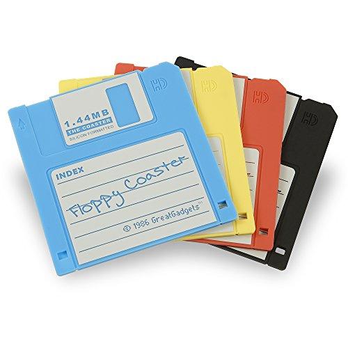 GreatGadgets 1889-2 Untersetzer 1.44 MB Floppy Diskette (4-farbig sortiert)