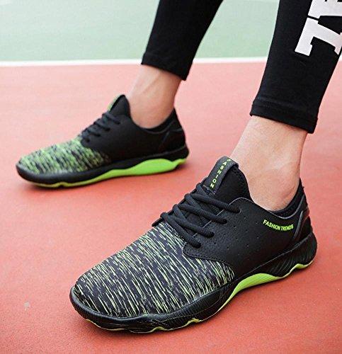 NSPX I nuovi pattini di pallacanestro di calza i pattini di sport di formato maschio / grande i pattini correnti delle scarpe da corsa delle coppie del merletto di modo , 42 GREEN-44