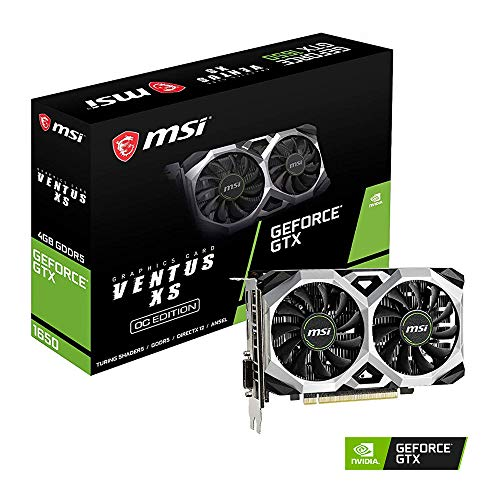 MSI GeForce GTX 1650 Ventus XS 4G OC GDDR5 Gaming Graphic Card