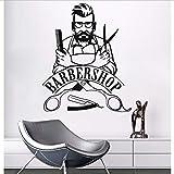 Namefeng Autocollant Mural Barber Shop Affiche Amovible Hipster Autocollants De PVC Beauté Salon Fenêtre Autocollant Barber Shop Décor 57X70Cm