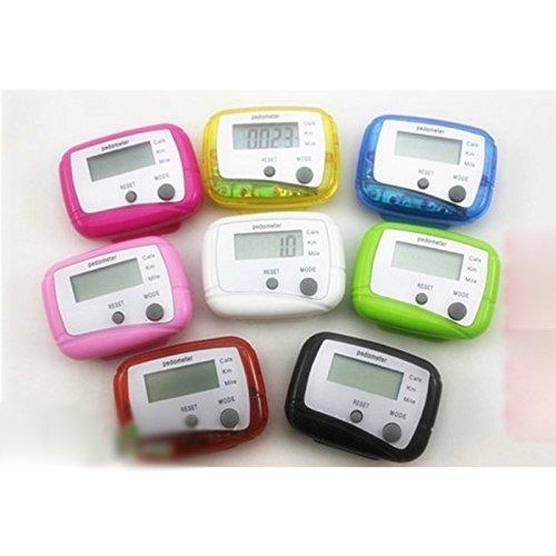 Arpoador 1x elektronische Multifunktions Schrittzähler Running Fitness Kalorien Schritt Zähler (schwarz) - Multifunktions-schrittzähler