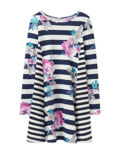 Tom Joule Joules Trapez Kleid - Margate Floral - 11-12 Years - 146-152 - Kleidung Toms