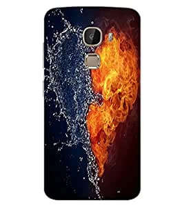 ColourCraft Ice and Water Heart Design Back Case Cover for LeEco Le 2 Pro