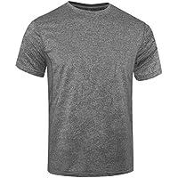 WHCRAET Camiseta de Malla Transpirable de Manga Corta para Hombre L