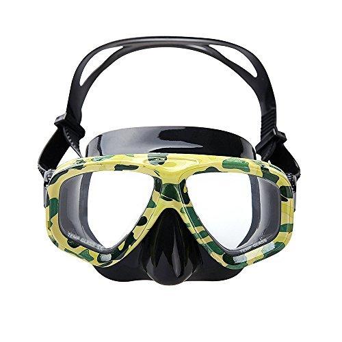 VILISUN - Schnorchelmaske, Silikon Tauchmaske, Anti-Fog & Anti-Leck Taucherbrille für Erwachsene, Kinder - Tarnfarbe (Tarnung)