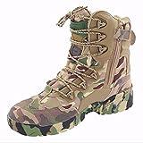 LiliChan Männer 8 Zoll Reißverschluss Taktische Stiefel Armee Stiefel Camouflage (42)