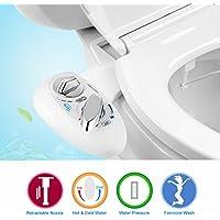 Bidet,WC Bidet, YECO Dusch-WC für Intimpflege mit Reinigungsfunktion , Selbstreinigung Single Düse 2 funktioniert zu Hot und Cold Süßwasser