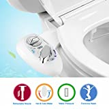 Bidet, YECO Hot and Cold Fresh water with Self Cleaning Retractable Nozzle Non-Electric Toilet Seat Bidet for Personal Hygiene, Easy to Install
