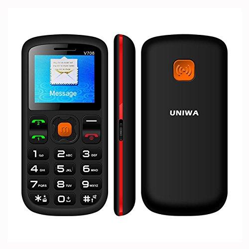 Big Button Handy für Ältere 4,5cm entsperrt Senior Mobile Handy SOS Dual Sim Digital schnurlose phonebluetooth und Taschenlampe