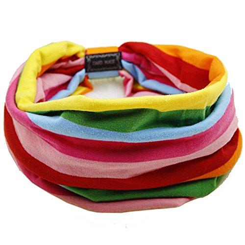 Bllomsem Yoga Sport Haar Band Schal Stirnband Color Stripe -