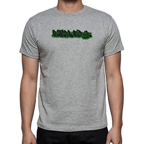 Graffitti Hip Hop Rap Black Green Herren T-Shirt Grau