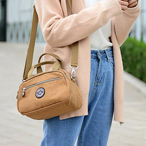 Outreo Umhängetasche Leichter Handtasche Mode Schultertasche Damen Kleine Messenger Bag Reisetasche Wasserdicht Taschen Blau 3