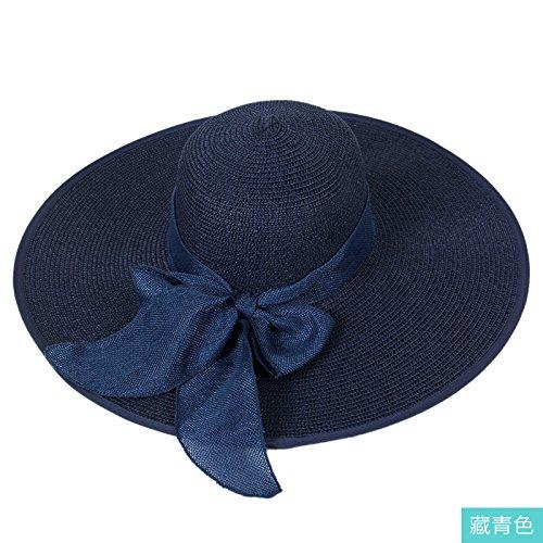 LLZTYM Chapeau De Soleil/Fille/Été/Parasol/Été/Crème Solaire/Chapeau De Plage/Vacances/Anti-Ultraviolet/Chapellerie/Cadeau Blue