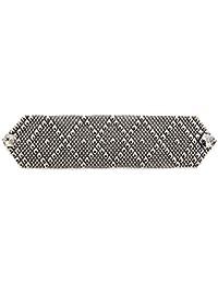 Braccialetto in argento anticato, come SG da Sergio Gutierrez Liquid Metal, 3 misure, SG Custodia e panno per la pulizia incluso