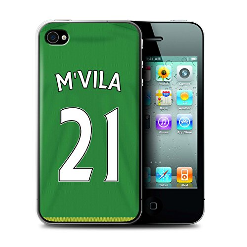 Offiziell Sunderland AFC Hülle / Case für Apple iPhone 4/4S / Pack 24pcs Muster / SAFC Trikot Away 15/16 Kollektion M'Vila