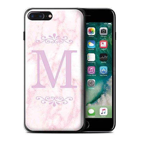 Personalisiert Rosa Marmor Mode Hülle für Apple iPhone 6S / Gerahmt Silber Single Design / Initiale/Name/Text Schutzhülle/Case/Etui Gerahmt Rosa Single