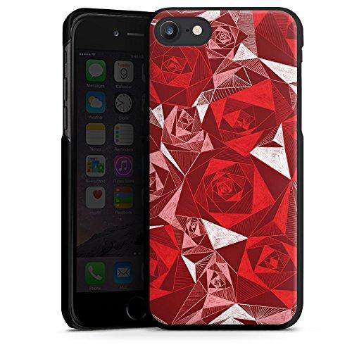 Apple iPhone X Silikon Hülle Case Schutzhülle Rot Rose Rosen Hard Case schwarz