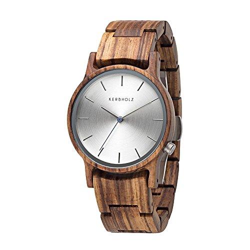 Kerbholz Unisex Erwachsene Analog Quarz Uhr mit Holz Armband 4251240405506