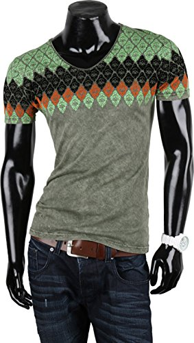 Tazzio Herren Polo Hemd Poloshirt Shirt Kurzarm Khaki Arriate