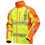 NEU! ELDEE YO-HiViz Softshelljacke, moderne Warnschutzjacke, gelb/orange mit Reflexsteifen, Gr. S - XXXL (XXL)