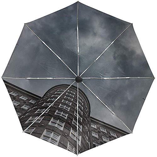 Automatischer Regenschirm-Gebäude-Architektur-Himmel-Reise-bequemer winddichter wasserdichter faltender offener Selbstschluss