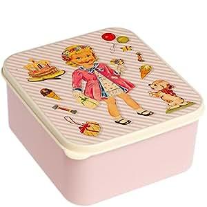 Boite a goûter Grande boîte à déjeuner pour Enfant fille illustration Vintage