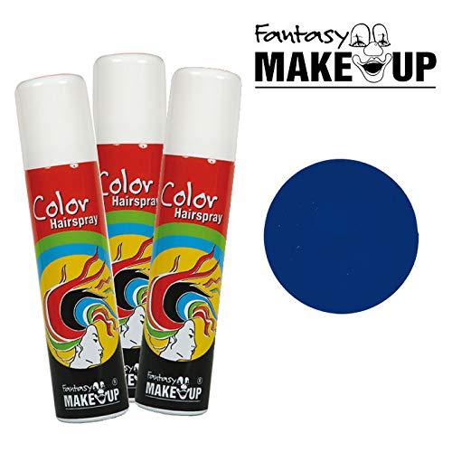 PARTY DISCOUNT® Haar-Color-Spray / Farbiges Farbiges Haarspray - lässt Sich Wieder auswaschen, - lässt Sich Wieder auswaschen, 75 ml Dose, blau