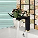 hzzymj-art Deco/Retro Centerset breitgefächert mit Ein Loch Keramik Ventil Single Griff für Malerei, Waschbecken Wasserhahn
